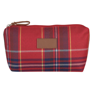Soho Tartan Cosmetic Bag - Red and Navy
