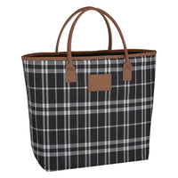 Custom Soho Tote Bag Black/White