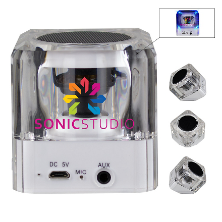 Sonic Boom Bluetooth Speaker w/ Flashing LED Lights - FlywheelPromotions.com