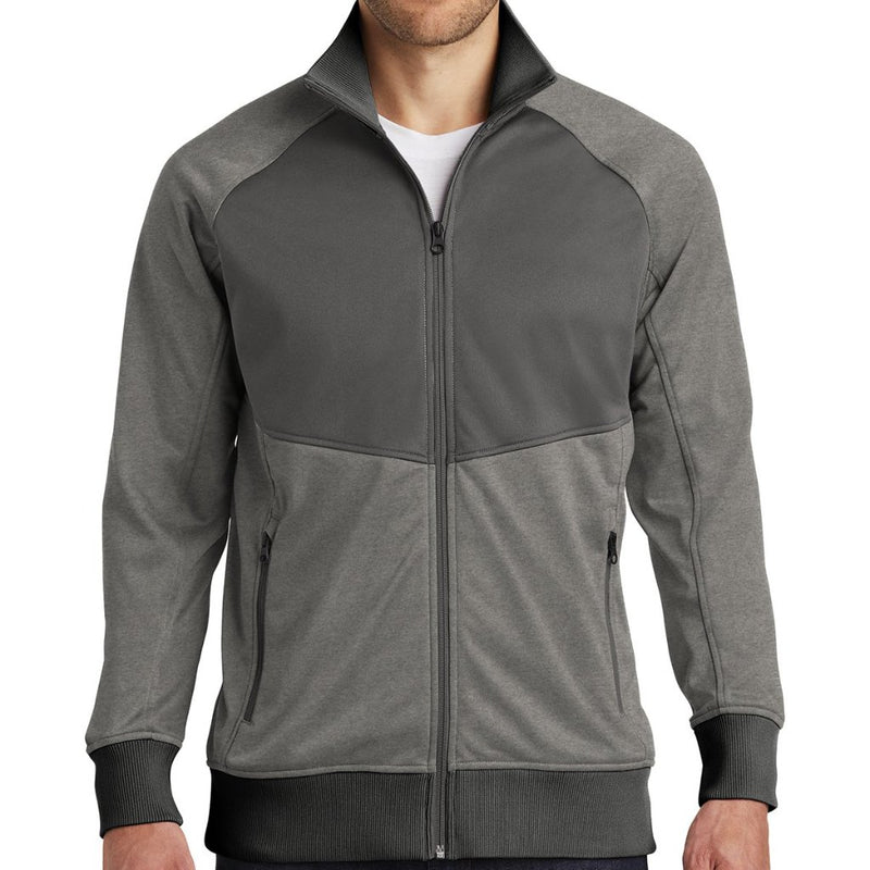 The North Face® Tech Full-Zip Fleece Jacket (Medium Gray Heather/Asphalt)