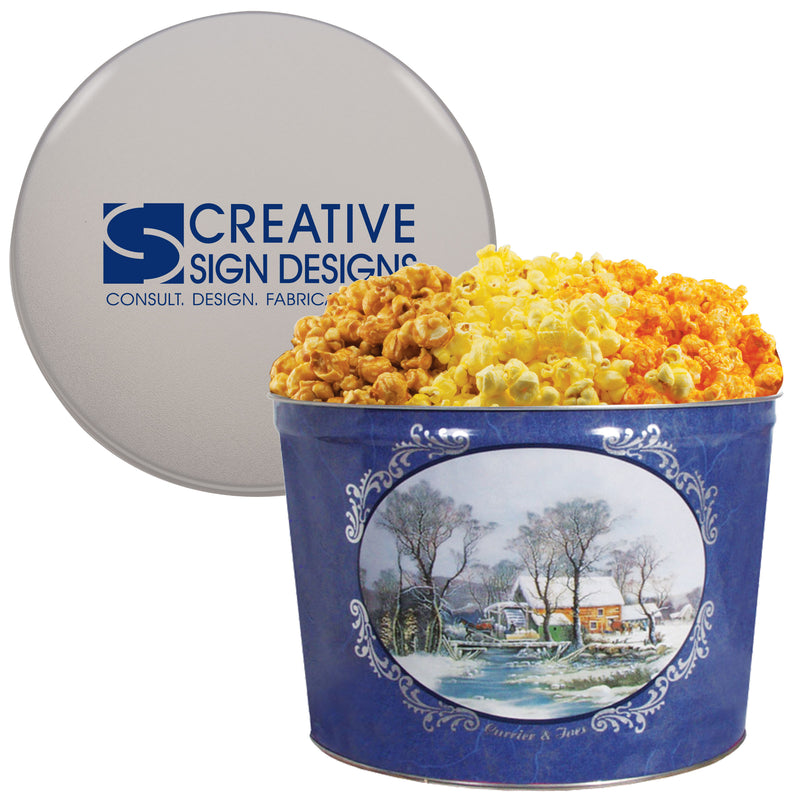 Two Gallon Popcorn Tin - Option 2