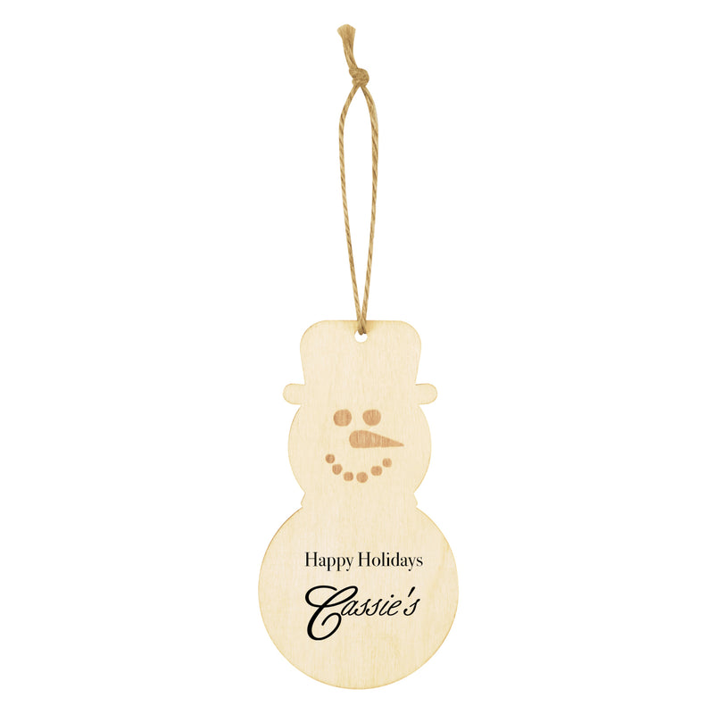 Wooden Ornament - Snowman