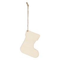 Wooden Ornament - Stocking