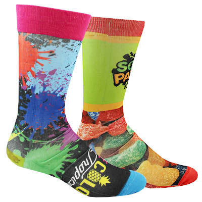 Full Color Socks - FlywheelPromotions.com