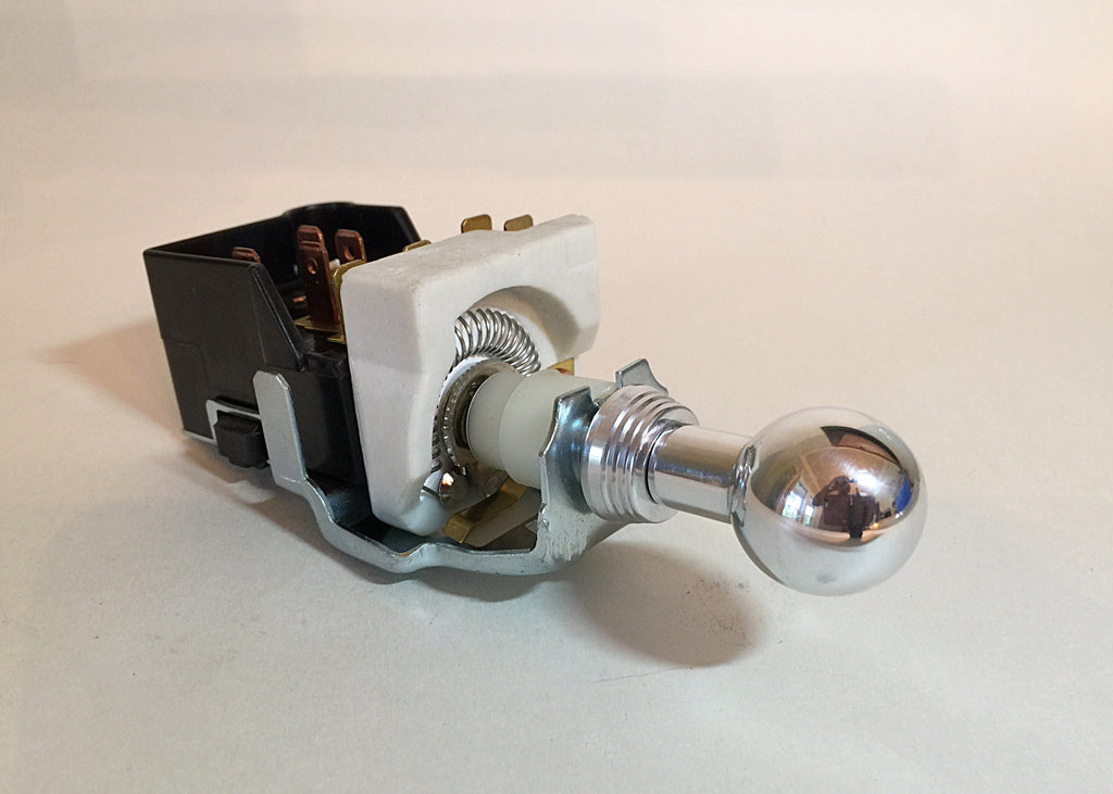 GM style Headlamp Switch with Polished 'Shoebox' Knob & Bezel
