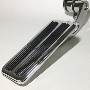 Hinged Throttle Pedal - Chromed - Large