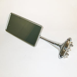 Curved Arm Door Edge Mirror - Rectangular Head