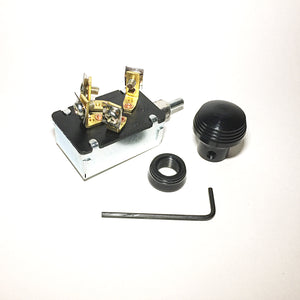 Keyless Ignition Switch with Art Deco Knob and Bezel - Black