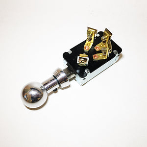 Keyless Ignition Switch with Polished 'Shoebox' Style Knob & Bezel