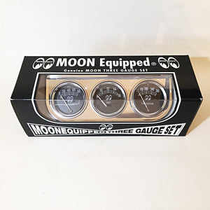 Mooneyes Classic 3 Gauge Set with Chrome Under Dash Panel