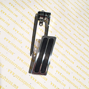 Hinged Gas Pedal Poliished Aluminum and Chrome