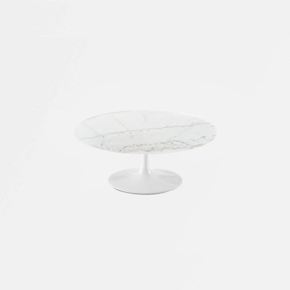 Calacatta Gold Marble Tulip Coffee Table - Round
