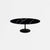 Black Calacatta Quartz Tulip Dining Table - Oval