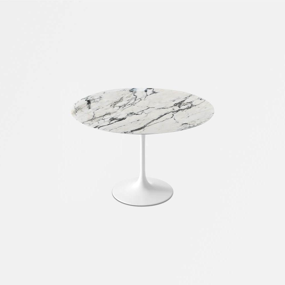 Arabescato Marble Tulip Dining Table - Round