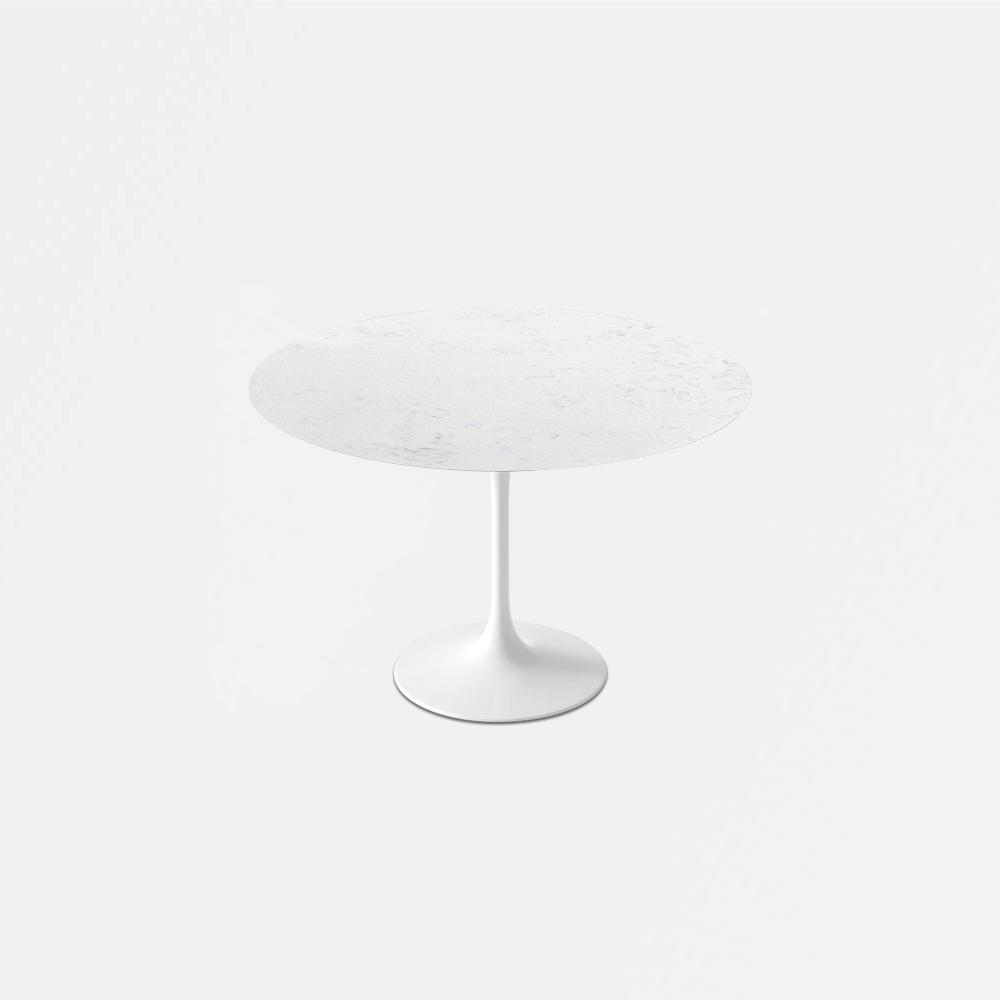Bianca Neve Calacatta Quartz<sup>&copy;</sup> Tulip Dining Table - Round