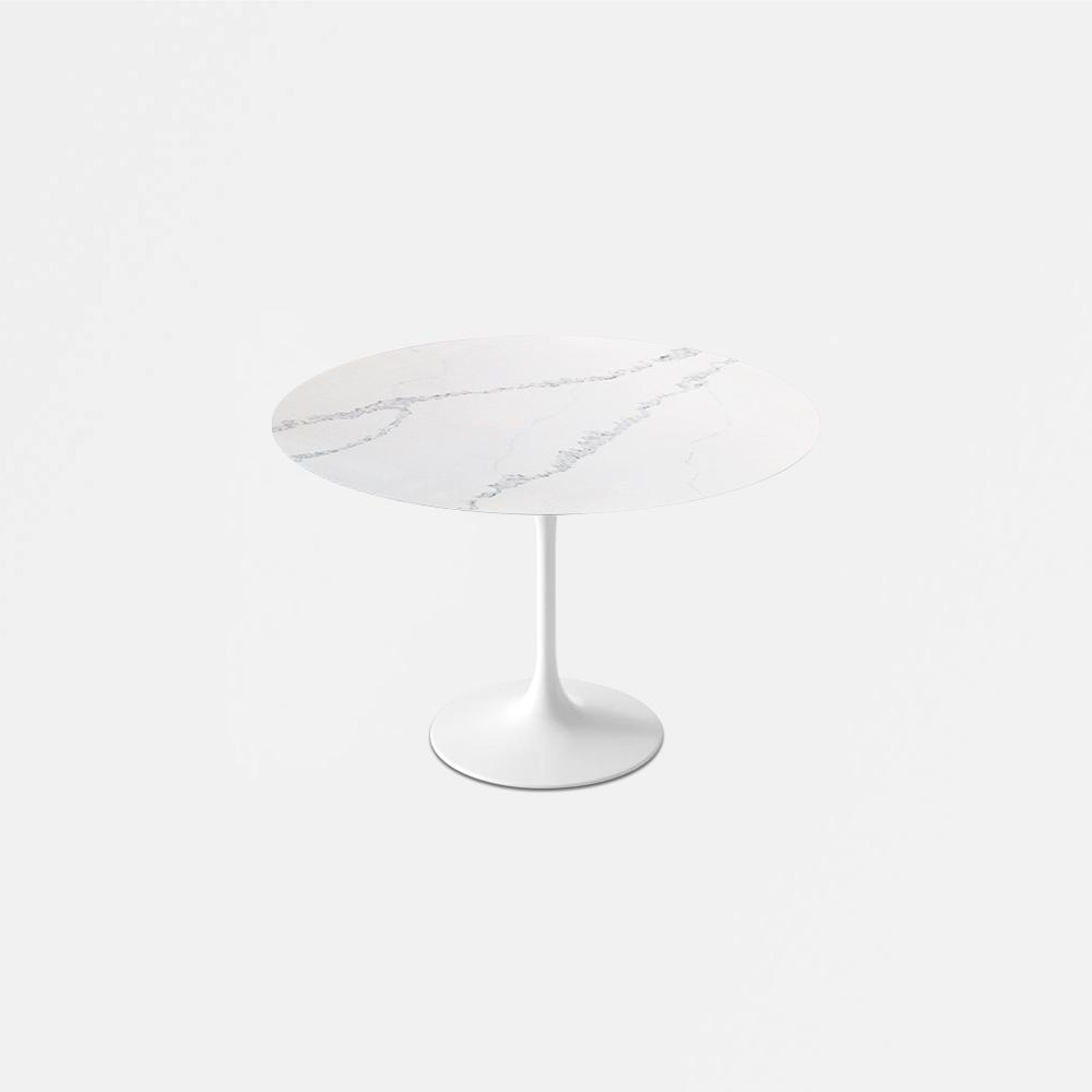 Carrara Nuvo Calacatta Quartz<sup>&copy;</sup> Tulip Dining Table - Round
