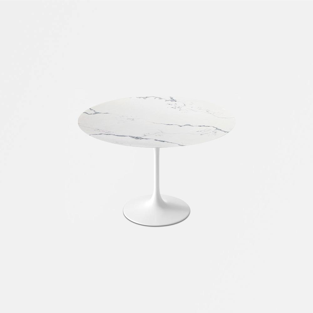 Statuario Venato Calacatta Quartz<sup>&copy;</sup> Tulip Dining Table - Round