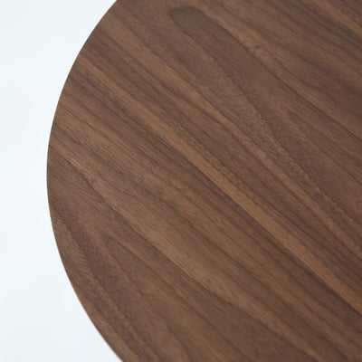 Dark Walnut Wood Tulip Side Table - Round