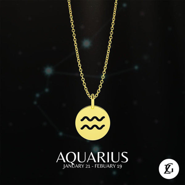 Aquarius Classic Necklace-Zeal Gifts-Zeal Gifts