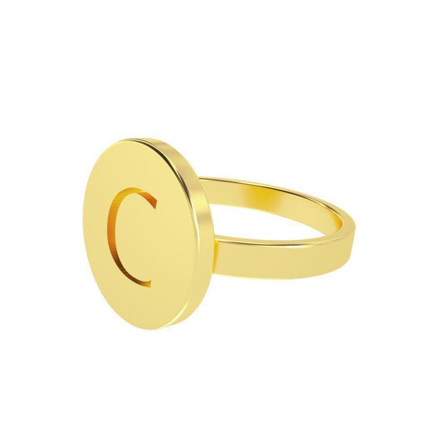 Circle Letter Ring-Zeal Gifts-Zeal Gifts