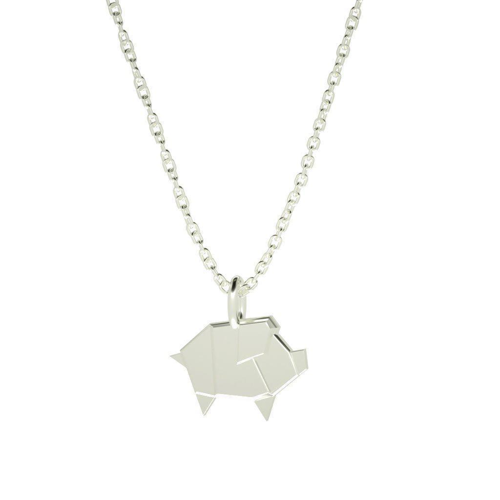 Geometric Pig - Engravable-Zeal Gifts-Zeal Gifts