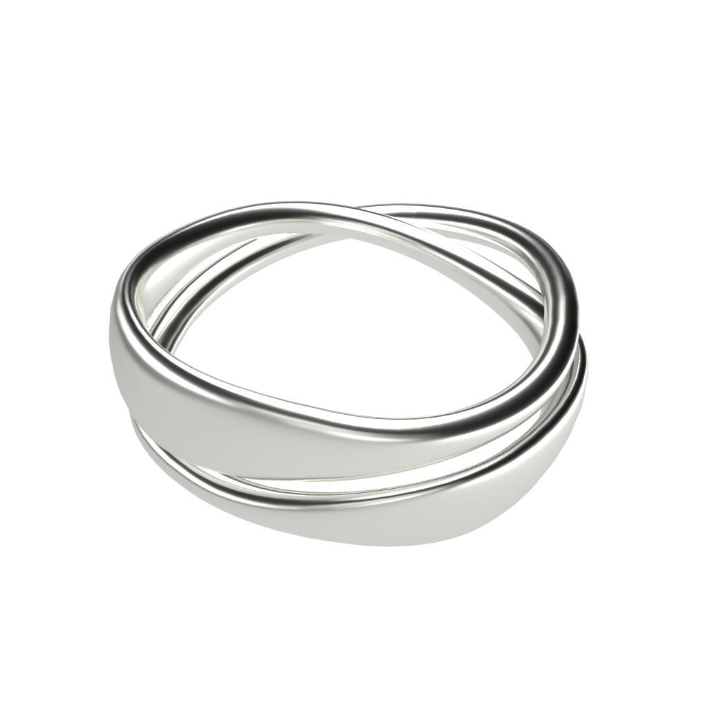 Infinite loop ring - Platinum or 14K Solid Gold-Zeal Gifts-Zeal Gifts