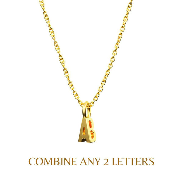 Mini 3D Monogram - 14K Solid Gold-Zeal Gifts-Zeal Gifts