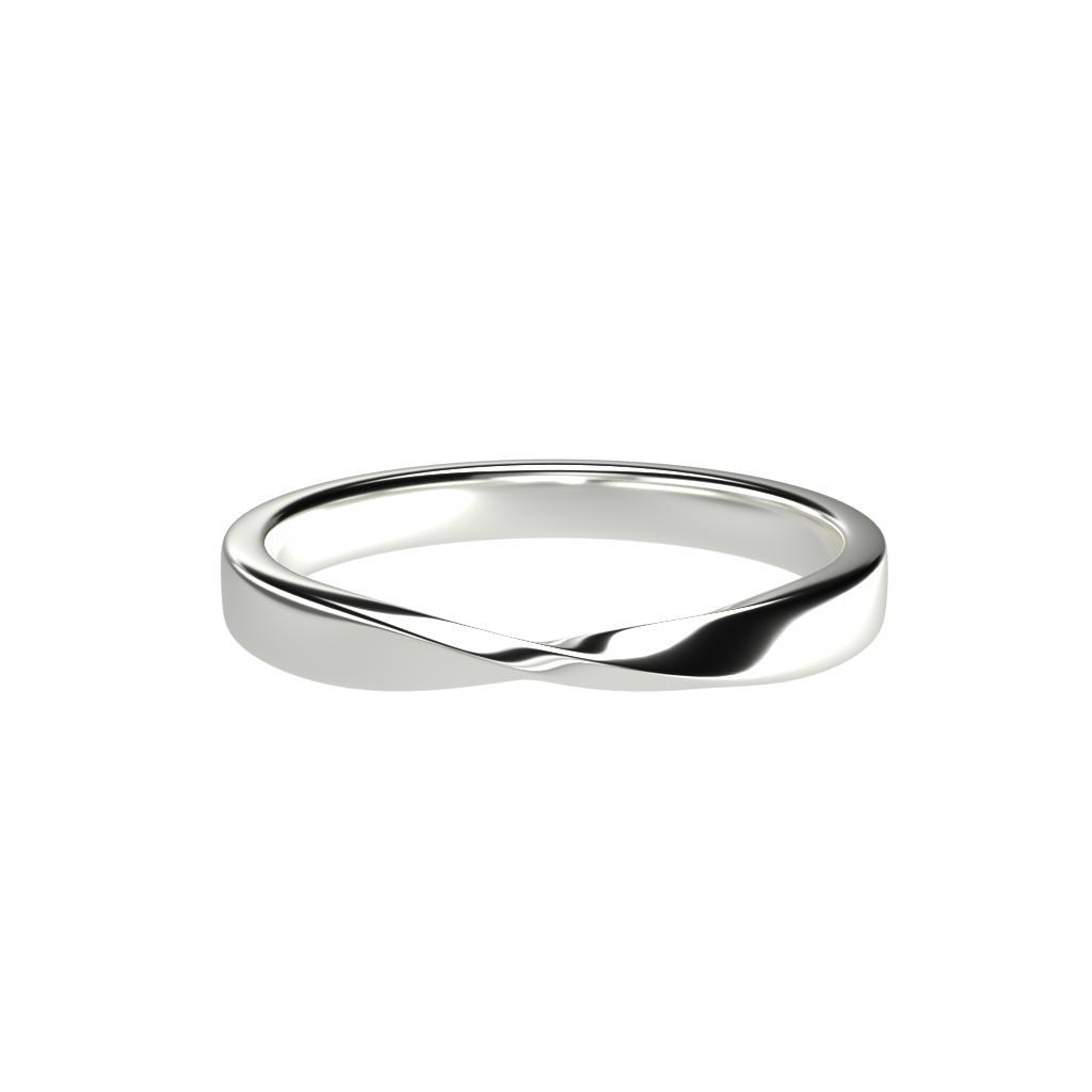 Mobius Ring - Thin, 14K Solid Gold or Platinum-Zeal Gifts-Zeal Gifts