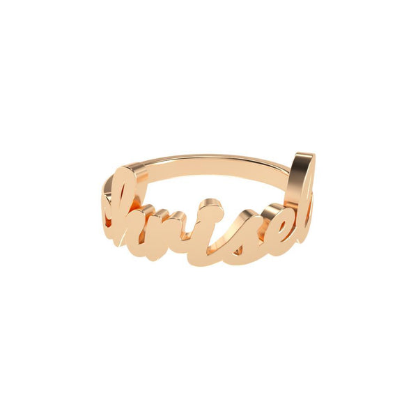 Name Ring - Cursive-Zeal Gifts-Zeal Gifts