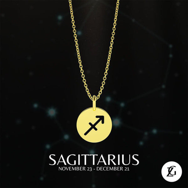 Sagittarius Classic Necklace-Zeal Gifts-Zeal Gifts
