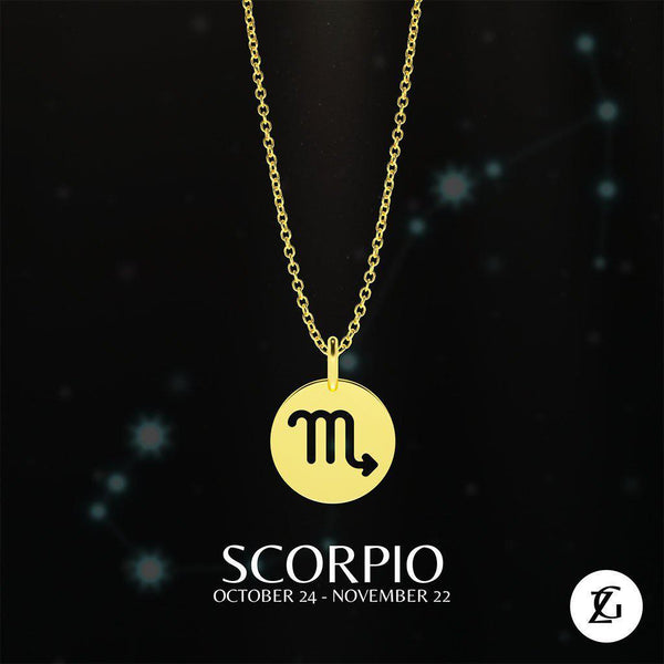 Scorpio Classic Necklace-Zeal Gifts-Zeal Gifts