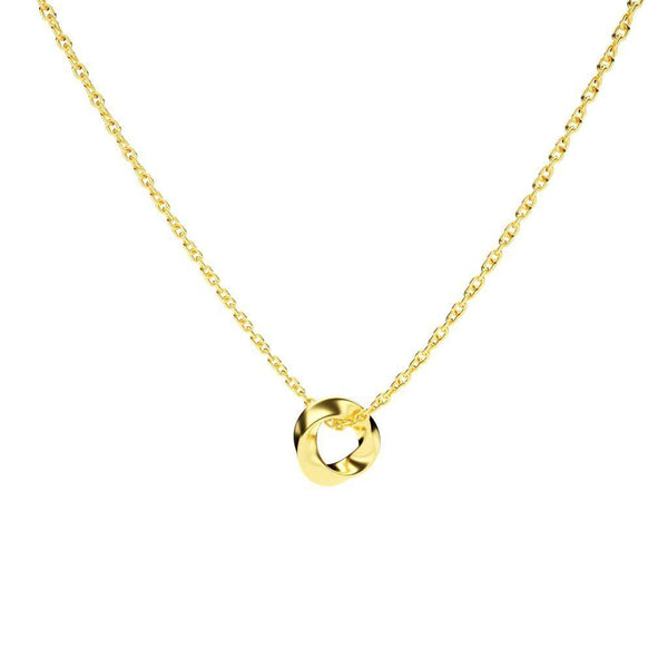 Twisted Loop - 14K Solid Gold-Zeal Gifts-Zeal Gifts
