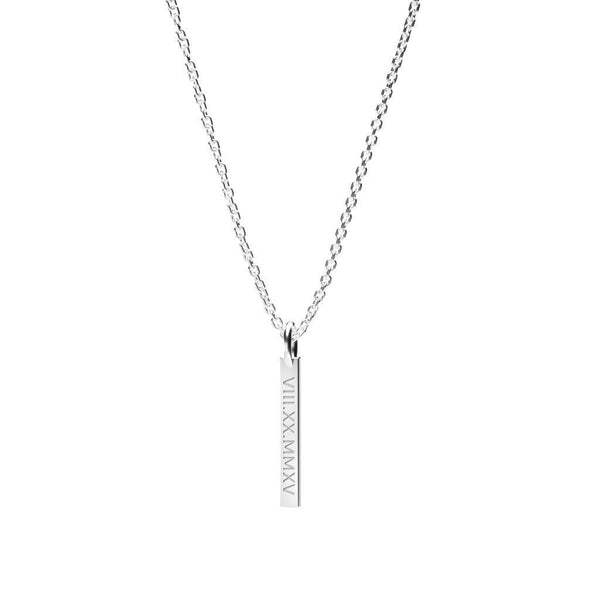 Vertical Bar - Date Roman Numeral-Zeal Gifts-Zeal Gifts
