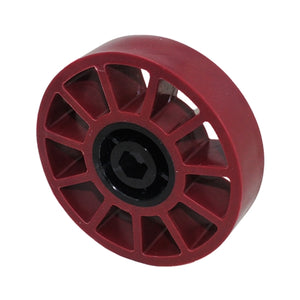"4"" Compliant Wheel, 1/2"" Hex Bore, 45A Durometer (am-3480_maroon)"