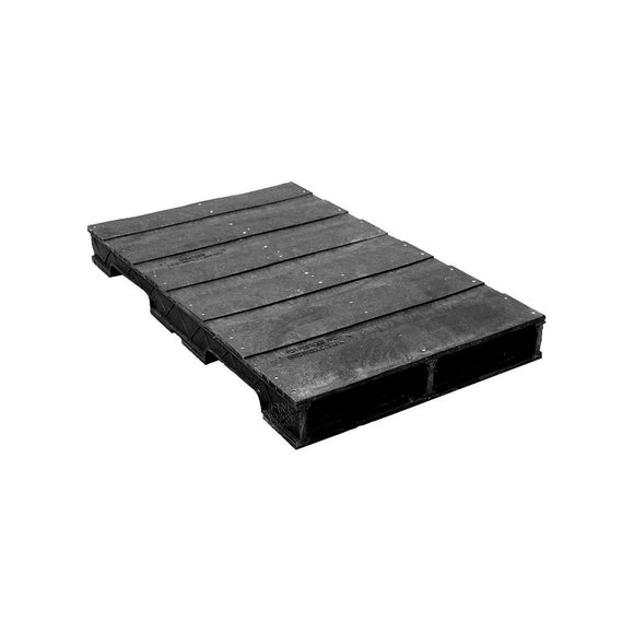 24 x 48 Heavy Duty Solid-Deck Rackable Plastic Pallet - OWS PP-S-2448-RC - PPC PPC PPC2448-3 Repose Top