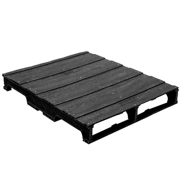 32 x 40 Heavy Duty Solid Deck Rackable Plastic Pallet - PPC ppc3240-3 OWS PP-S-3240-RC Repose Top