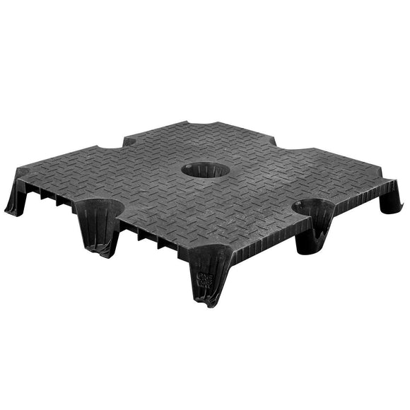 36 x 36 Nestable Solid Deck Plastic Pallet CTC 3636-CTC-C OWS PP-S-3636-NG Repose Top