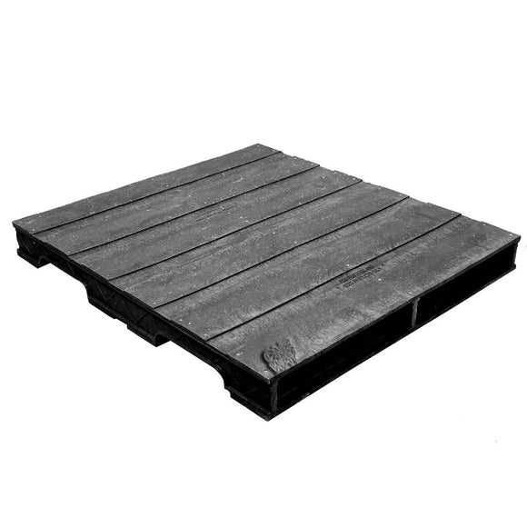 36 x 40 Heavy Duty Solid-Deck Rackable Plastic Pallet - Plastic Pallet Creations ppc3640-3 OWS PP-S-3640-RC Repose Top