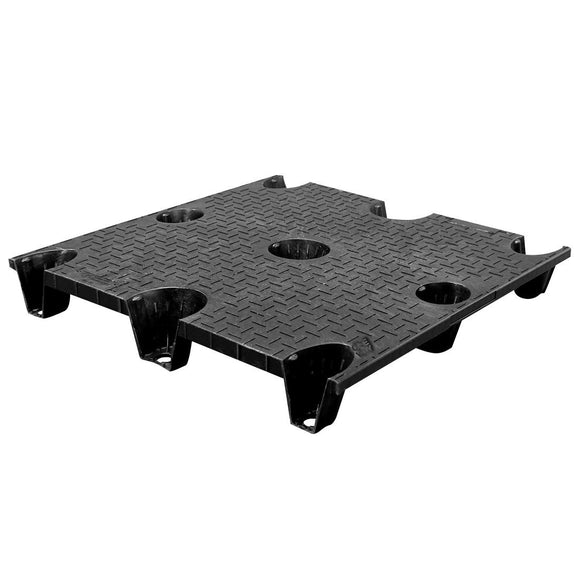 40 x 40 Nestable Plastic Pallet Solid Top - CTC 4040-CTC-C OWS PP-S-4040-NG Repose Top