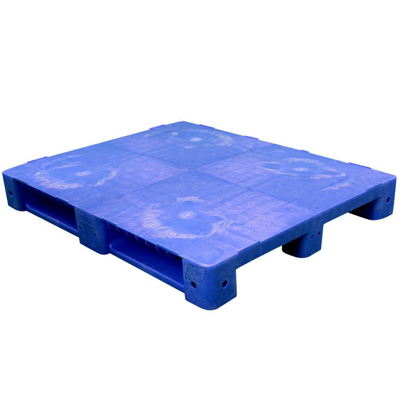 40 x 48 Blue Rackable Plastic FDA Pallet - Decade PNH2001BL OWS PP-S-40-S5FDA Repose Top