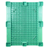 40 x 48 Green Rackable Plastic FDA Pallet - Decade PNH2001BL OWS PP-S-40-S5FDA-Green Standing Bottom