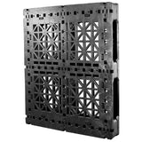 40 x 48 Heavy Duty Rackable Plastic Pallet w/ 3 Fiberglass Reinforcing Rods & Freezer Additive - Greystone GS.48.40.003.FZ OWS PP-O-40-R2.003-FA Standing 3-4