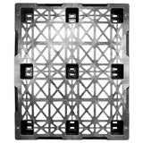 40 x 48 Nestable Light Duty Plastic Pallet - Greystone GSNestable OWS PP-O-40-NL2.5 Standing Top HeadOn