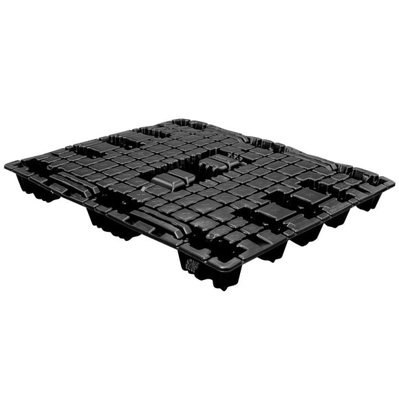 40 x 48 Nestable Light Duty Solid Deck Plastic Export Pallet - Trienda LP4048 OWS PP-S-40-NT1 Repose Top