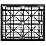 40 x 48 Nestable Light Medium Duty Plastic Pallet - One Way Solutions PP-O-40-NM7 Bottom View