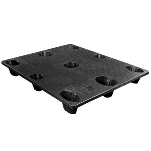 40 x 48 Nestable Solid Deck Plastic Pallet - High Grade - CTC 4840-CTC-B OWS PP-S-4048-NG-B Repose Top