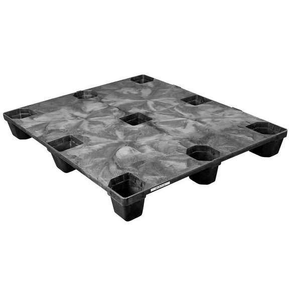 40 x 48 Nestable Solid Deck Plastic Pallet - Triple Diamond Plastics TDP-S-40-NM OWS PP-S-40-NM Repose Top