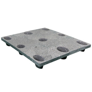 40 x 48 Nestable Solid Deck Plastic Pallet Medium Duty - Rotational Molding of UT The Bruin OWS PP-S-4048-NL8 Repose Top