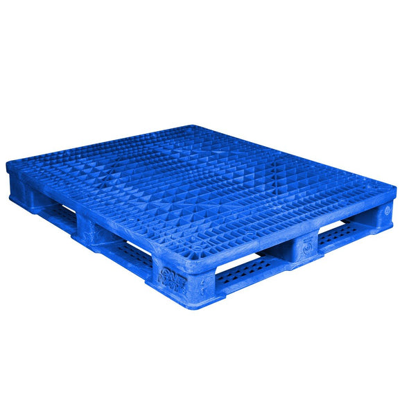 40 x 48 Rackable FDA Plastic Pallet - Polymer Solutions ProGenic 6_ Blue OWS PP-O-40-R4FDA Repose Top