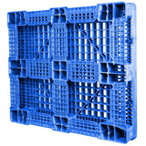 40 x 48 Rackable FDA Plastic Pallet - Polymer Solutions ProGenic 6_ Blue OWS PP-O-40-R4FDA Standing 3-4 Bottom